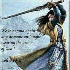 warring woman with the armor of God