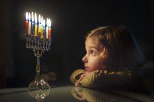 Child with menorah